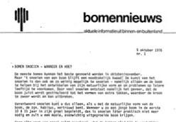 1976 1 Bomennieuws 1e nummer 1 okt 1976 1