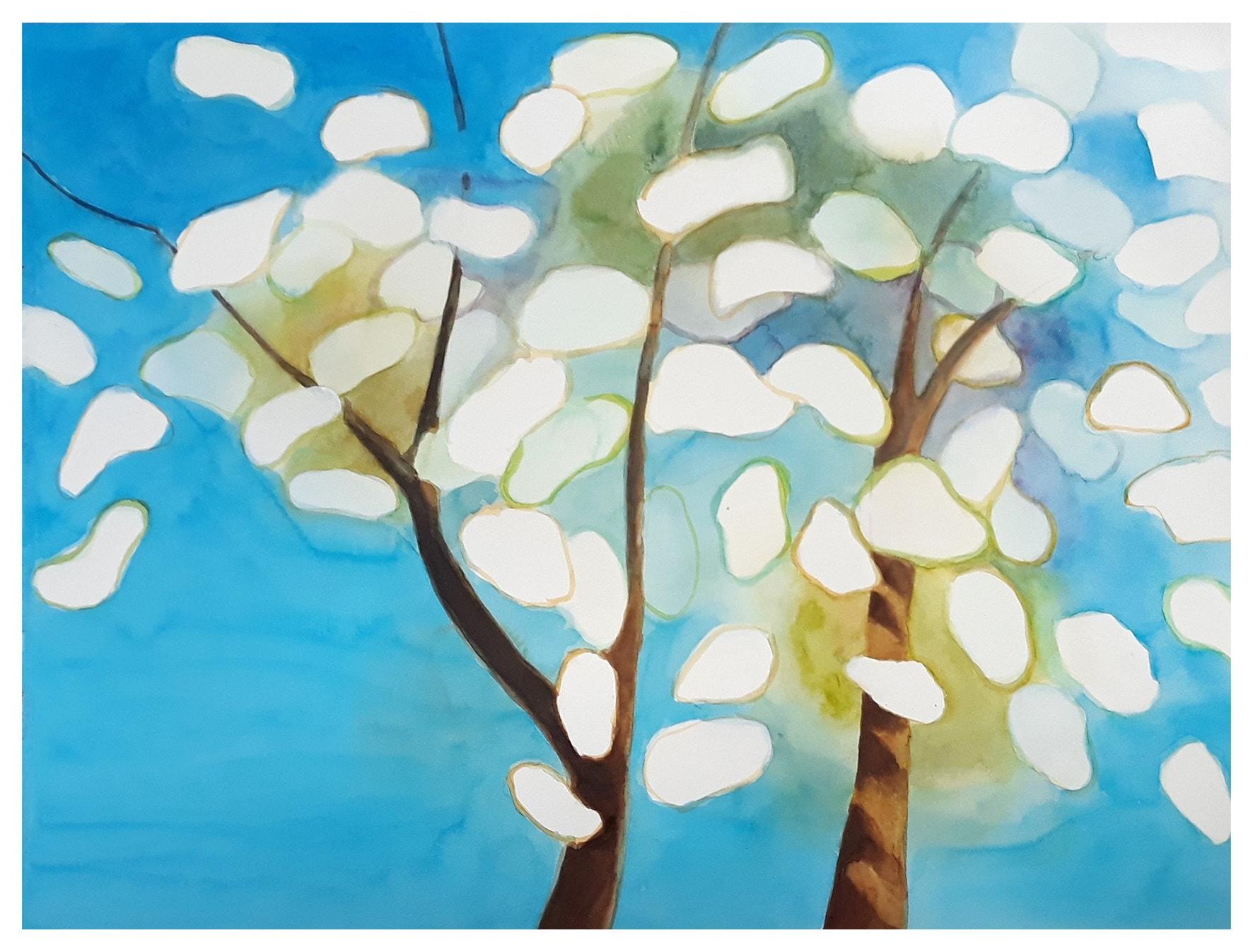 persfoto Marieke Laverman Prunus aquarel 2020